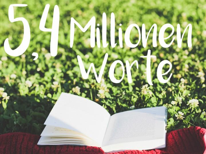 5,4 Millionen Worte in drei Jahren, oder: wie du ruhig und gelassen ans Ziel kommst